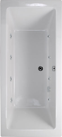 SONAS Plane 1600x700 Double Ended 8 Jet Whirlpool Bath - Extra Deep Code GGIPL167005