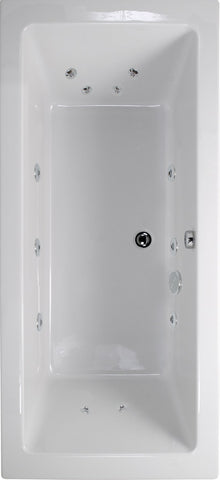 SONAS Plane 1900x800 Double Ended 12 Jet Whirlpool Bath - Extra Deep Code GGIPL198004