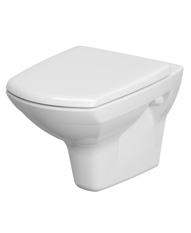 SONAS Carina Rimless Wall Hung Pan with horizontal outlet including soft close seat Code K701-004