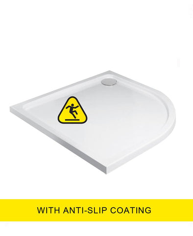 SONAS Kristal Low Profile 1000 Quadrant Shower Tray - Anti Slip with FREE shower waste Code KLP100Q100AS