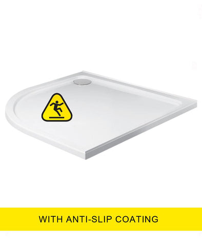 SONAS Kristal Low Profile  1000X800 Quadrant LH Shower Tray -Anti Slip with FREE shower waste Code KLP1080LQ100AS