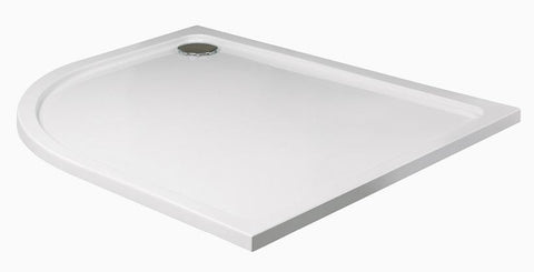 SONAS Kristal Low Profile 1000x800 Offset Quadrant Shower Tray LH with FREE shower waste Code KLP1080LQ100