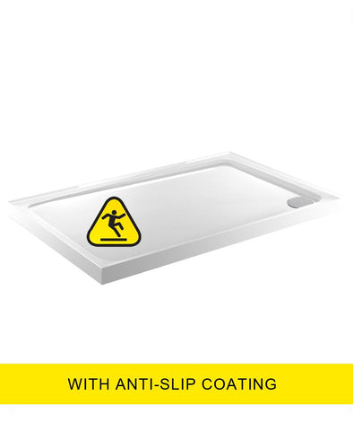 SONAS Kristal Low Profile 1000x800 Rectangle 4 Upstand Shower Tray  -Anti Slip  with FREE shower waste Code KLP1080UPSAS