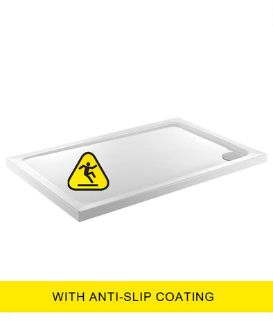 SONAS Kristal Low Profile 1200X800 Rectangle Shower Tray - Anti Slip  with FREE shower waste Code KLP1280100AS