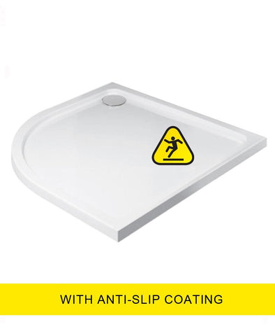 SONAS Kristal Low Profile 1200X900 Quadrant LH Shower Tray - Anti Slip  with FREE shower waste Code KLP1290LQ100AS