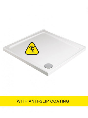 SONAS Kristal Low Profile Shower Anti Slip 700x700 Square Shower Tray 4 Upstand - with FREE shower waste Code KLP70UPSAS
