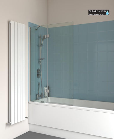SONAS Lunar SB6 Two Panel Hinged Bathscreen Code LBS006