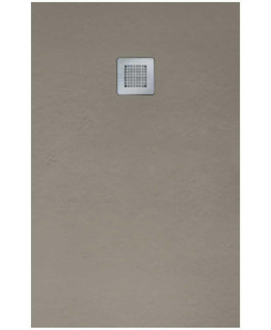 SONAS SLATE 1000 x 900 Shower Tray Taupe - with FREE shower waste Code NSL1090TP