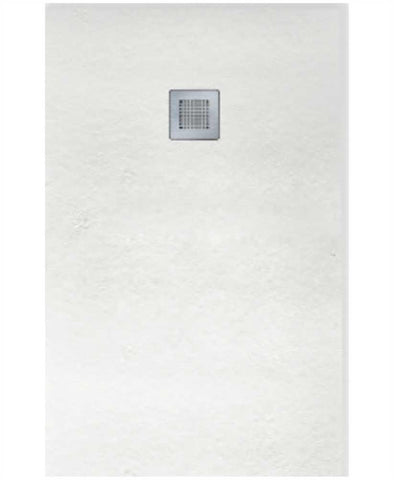 SONAS SLATE 1000 x 900 Shower Tray White - with FREE shower waste Code NSL1090WH