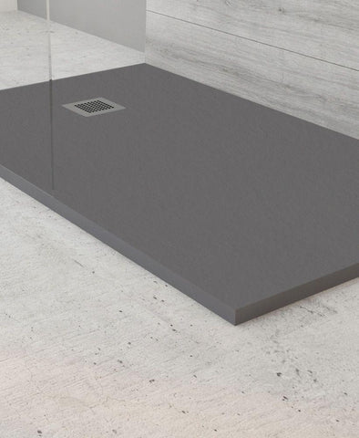 SONAS SLATE 1200 x 800 Shower Tray Anthracite - with FREE shower waste Code NSL1280AT