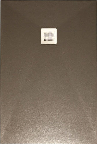 SONAS Slate Taupe 1600x800 shower tray with FREE Shower Waste Code NSL1680TP