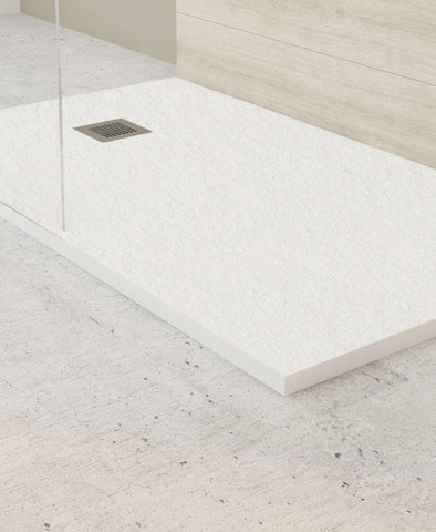 SONAS SLATE 1600 x 800 Shower Tray White - with FREE shower waste Code NSL1680WH