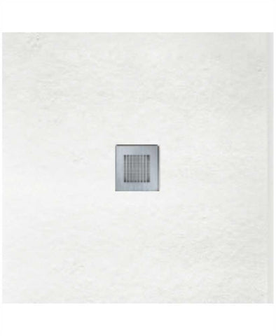 SONAS SLATE 800 x 800 Shower Tray White - with FREE shower waste Code NSL80WH