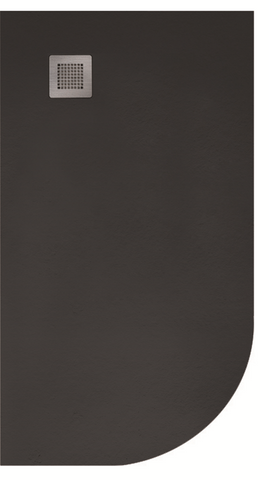 SONAS Slate 1200x800 Offset Quadrant Shower Tray LH  Black - Anti Slip  Code NSLQ1280LHBLK