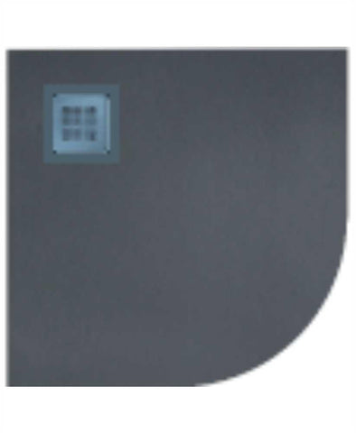 SONAS SLATE 900 quandrant  Shower Tray Anthracite - with FREE shower waste Code NSLQ90AT