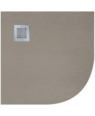 SONAS SLATE 900 Quadrant  Shower Tray Taupe - with FREE shower waste Code NSLQ90TP