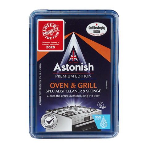 ASTONISH SPECIALIST OVEN & GRILL CLEANER & SPONGE (250G)