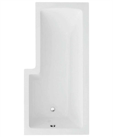 SONAS L Shape 1700 x 850 Right Hand Shower Bath with Bath Panel & Bath Screen Code SANLSBR
