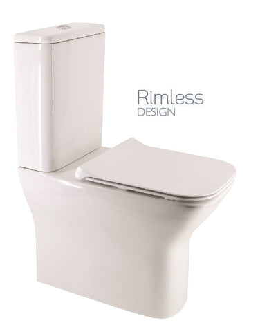 SONAS Sophia Fully Shrouded RIMLESS Toilet and Soft Close Seat Code SOPFS02