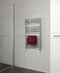 SONAS Sonas 800 x 500 Curved Towel Rail - Chrome Code STW085CCP