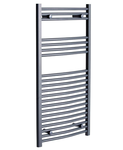 SONAS Sonas 1200 x 600 Curved Towel Rail - Anthracite Code STW126CAT