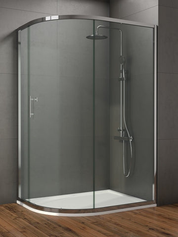 SONAS Style 1000x800mm Single Door Offset Quadrant Enclosure  - Adjustment 1000 - 800mm Code STYQU10800