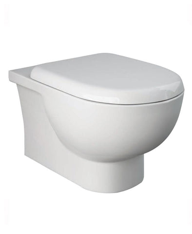 Tonique Wall Hung RIMLESS Toilet & Soft Close Quick Release Seat Code TONWHPAN