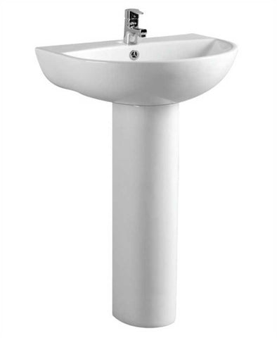 SONAS Verona 55 cm Basin and Full Pedestal 1 Tap Hole  Code VER5501FP