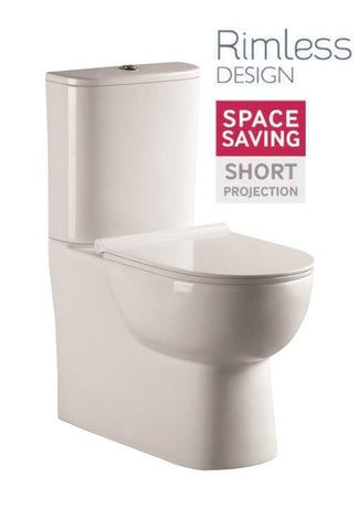 SONAS Verona Fully Shrouded RIMLESS Toilet and Soft Close Seat Code VERFS02