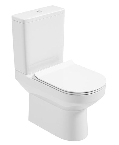 SONAS Vienna Fully Shrouded Rimless WC - Slim Soft Close Seat Code VNNFS01S
