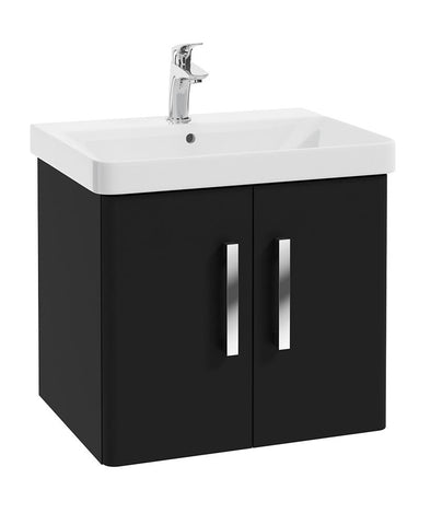 SONAS Odeon Black Matt 60cm Wall Hung 2 Door Vanity Unit Code W1OD60MB