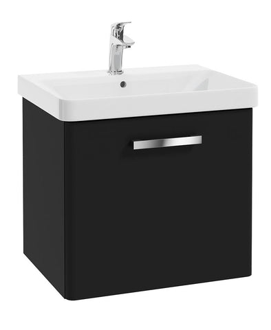 SONAS Odeon Black Matt 60cm Wall Hung 1 Drawer Vanity Unit Code W2OD60MB