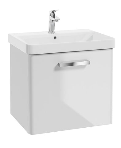 SONAS Odeon White Gloss 60cm Wall Hung 1 Drawer Vanity Unit Code W2OD60WH