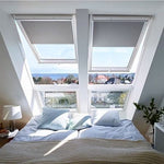 VELUX® GPU UK08 0070 WHITE POLYURETHANE LAMINATED TOP HUNG ROOF WINDOW 134X140CM