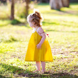 Sundress with Crossover Back - Citrus
