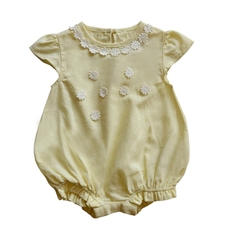 Daisy Playsuit in French Vanilla Custard