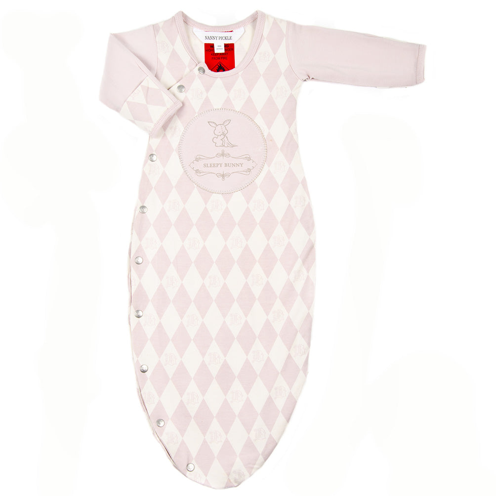 Bamboo and organic cotton sleep bag for baby girls. Nanny Pickle designs cute gifts for babies and children