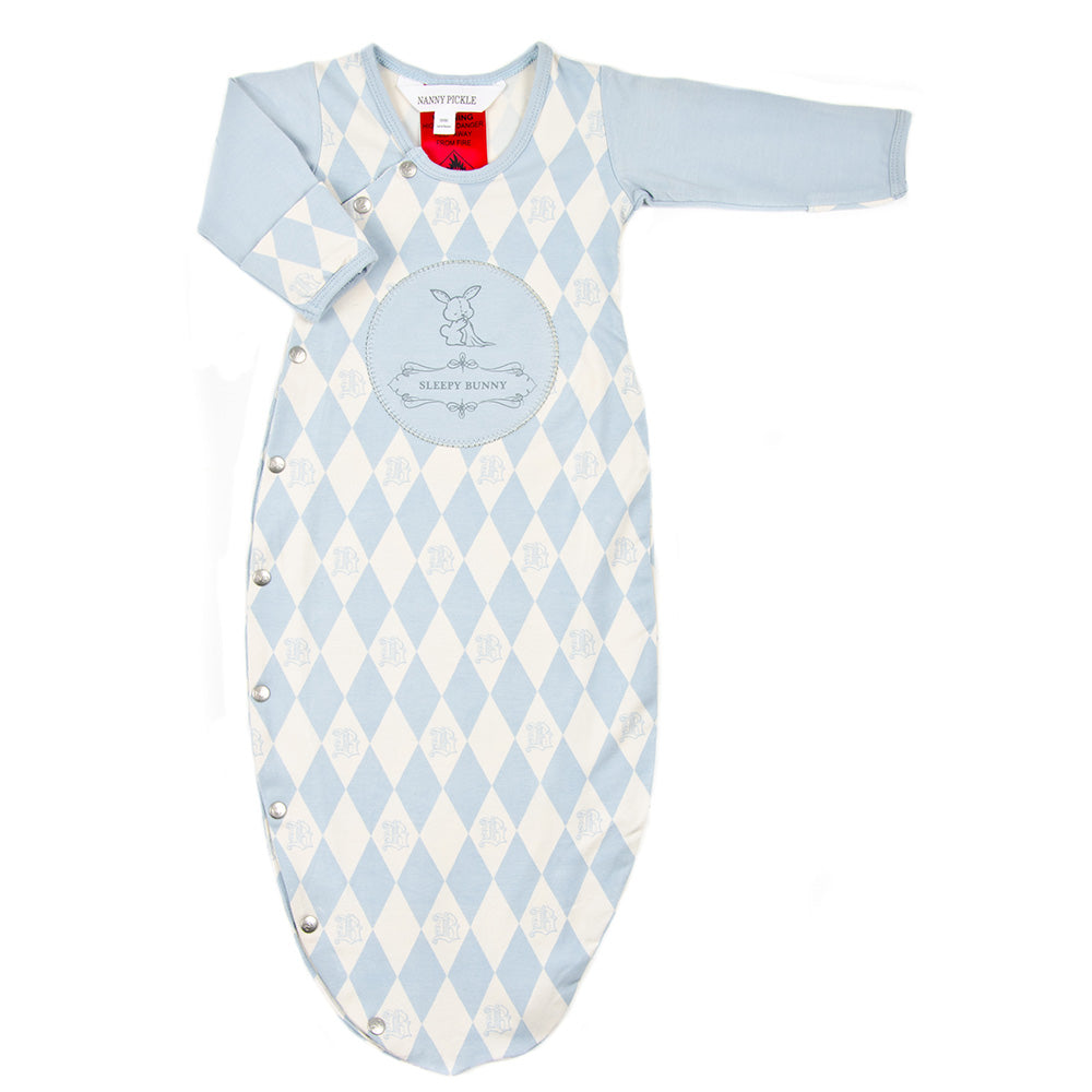 Bamboo and organic cotton sleep bag for baby boys. Nanny Pickle designs cute gifts for babies and children