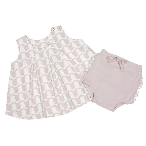 Two Piece Dress and Bloomer Set (Berry Parfait Pink)