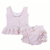 Two Piece Singlet Top and Bloomer Set (Berries and Cream Pink)