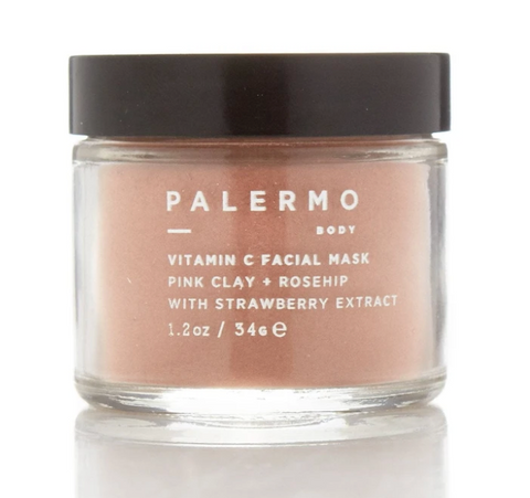 Vitamin C Facial Mask W/ Pink Clay + Rosehip + Strawberry