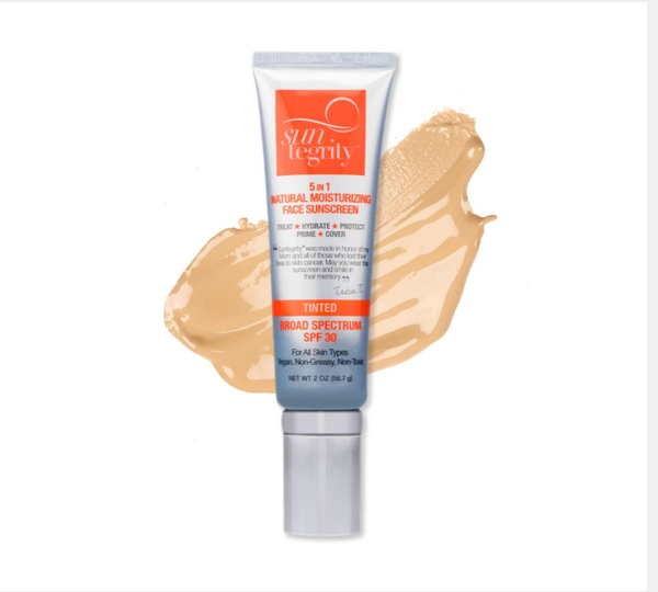5 in 1 Tinted Natural Moisturizing Face Suncreen SPF 30- GOLDEN LIGHT