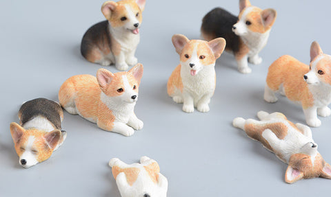 Handmade Welsh, Mix and Cardigan Corgi Resin Figure