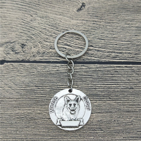 3 Colors Vintage Welsh Corgi Keychain