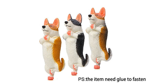 1Pc Corgi Keychain Meditation and Yoga
