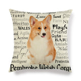 19 Styles Cute Corgi Pillow Case 45cm*45cm