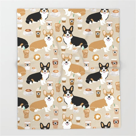 Corgi vs Coffee blanket and quilt | Handmade corgi stuffs, best place for corgi owner