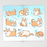 Cute Corgi Blanket - Daily Activities
