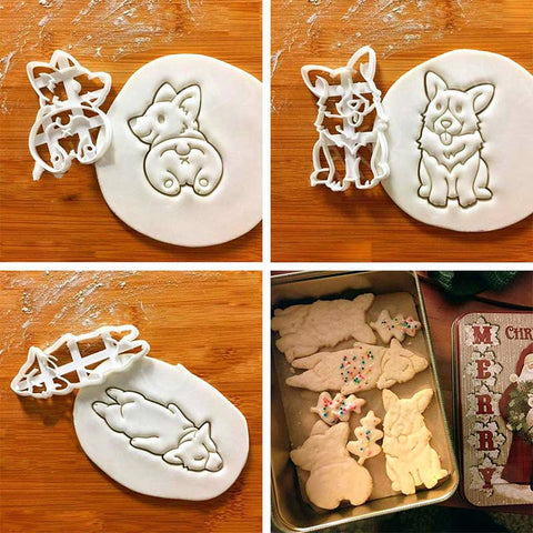 Corgi Cookie Cutter Mold Set Of Three Eco-Friendly