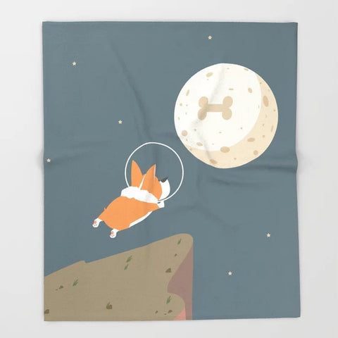 "Corgi Astronaut ""I Love Bone To The Moon And Back"""